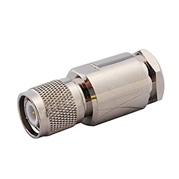 Superbat RF Conector adaptador coaxial TNC macho de pinza para LMR400(2 Unidades)