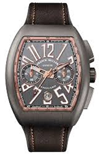 Franck Muller Vanguard Mens Grey Face Automatic Chronograph Date Grey Rubber Strap Swiss Watch V 45 CC DT TT BR 5N