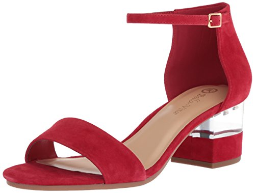 Bella Vita Women's Fitz Heeled Sandal, Red Kid Suede, 7 M US