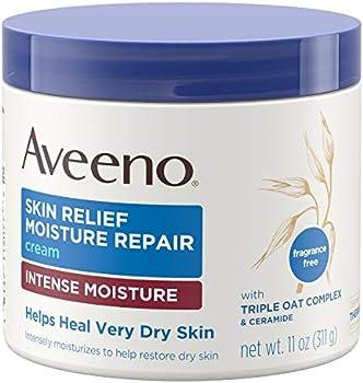 Aveeno 11 Oz Intense Moisture Skin Repair Cream With Triple Oat Complex