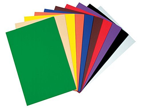 Wonderfoam Sheets - Creativity Street WonderFoam Peel & Stick Sheets, 12-inches x 18-inches, Assorted Colors, 20 Sheets (AC4306) by Creativity Street