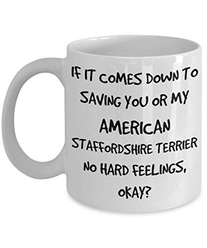 Funny American Staffordshire Terrier Mug - White 11oz 15oz Ceramic Tea Coffee Cup - Perfect For Travel And Gifts 1