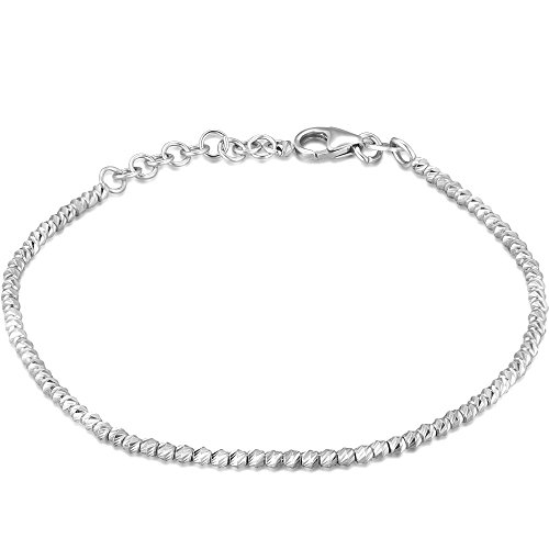 14k blanc perle balle d'or bijoux bracelet pour les femmes