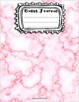 Bullet Journal: A4 - 156 páginas - Marmol negro, blanco ...