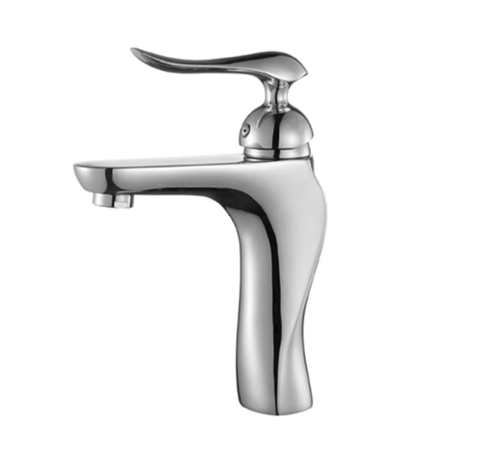 Edelstahl Einhand Mischer Einhebel Waschbecken Wasserhahn Heiß Und Kalt Alle Kupfer Einloch-Waschbecken Waschbecken