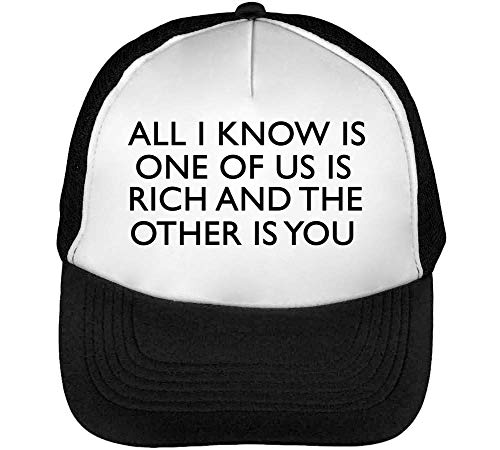 Gorras Us Hombre Beisbol Negro Other Of One Is You Snapback Blanco Is Rich RBqgx5xw0