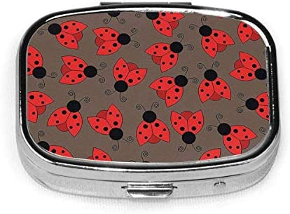 Ogden Juego de 2, Estuche Cuadrado para píldoras con 2 Compartimentos, Estuche portátil para píldoras de Viaje Pretty Ladybird - Ladybug Insect Girls: Amazon.es: Hogar
