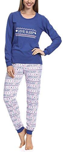1a Donna Pigiama Merry Blu Style 1022 S6Pxawqz