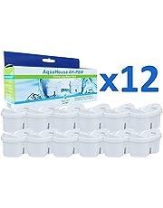 Aquahouse Pack van 12 filterpatronen compatibel met Brita Maxtra filterkan
