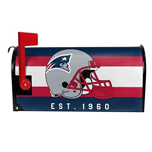 Gdcover Custom New England Patriots Garden Magnetic Mailbox Cover for Outdoor Decor