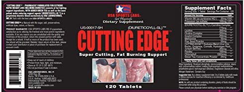 Cutting Edge - Natural Diuretic for Muscle Definition and Weight Loss with L-Carnitine, Green Tea Concentrate, Vitamin B-6 and Potassium - 120 Count 5