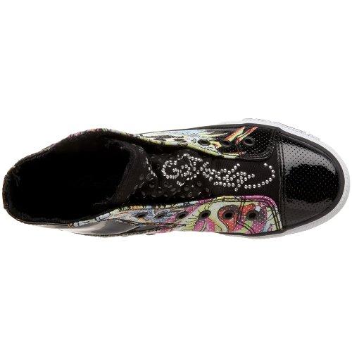 Ed Hardy Dames Babylon High Rise Sneaker Zwart-10sbn601w