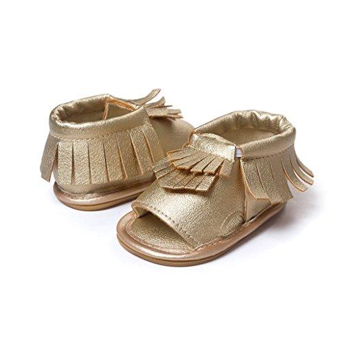Bebé Prewalker Zapatos Auxma Zapatos del verano de la primavera de los niños de los bebés Sandalias de Moda Para 3-18 Mes Oro