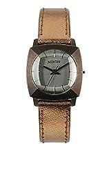 Nixon Luca Smoke Dial Copper SS Bronze Leather Quartz Ladies Watch A401-894