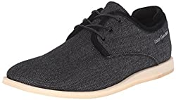 CK Jeans Men's Darian Denim/Suede Fashion Sneaker, Black/Black, 8 M US