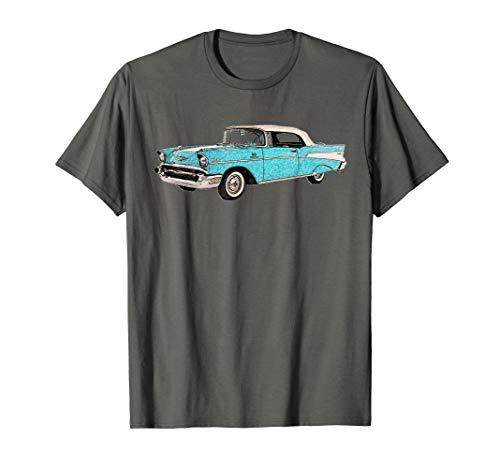 - Vintage Retro 1957 1950s Car Auto Drawing T-shirt