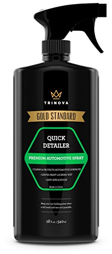 Quick Detailer - Mist and Wipe off Dust, Fingerprints and more while providing a protective seal against weather, contaminants. 18oz TriNova (Quick Mist And Wipe Detailer compare prices)