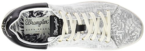 Mujer Wrangler Wave Low Flower Blanco Zapatillas In8qPg4a
