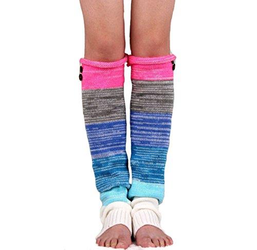 Nanxson Women's Girls Knitted Acrylic Striped Long Leg Warmer TTW0033 (Best Nanxson Winter Boots)