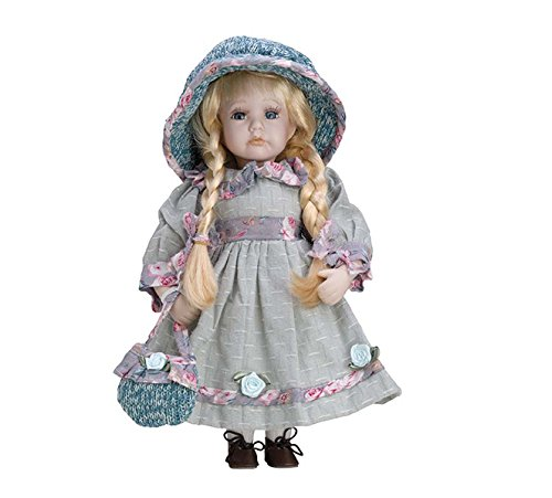 Porcelain Doll 30cms with Stand. Leonor–bam005 Hobby Work