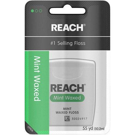 Reach Dental Floss, Waxed-Mint-55 yds. (Quantity of 5) by Reach