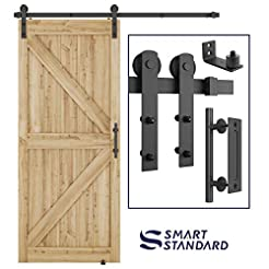 6FT Heavy Duty Sturdy Sliding Barn Door ...