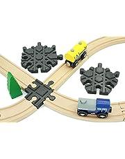 Locorico Kruis voor trein, hout, compatibel met Brio