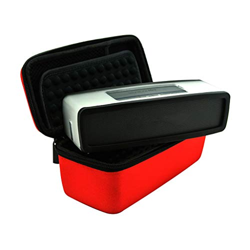 MChoice❤️Soft Skin Cover and Hard Travel Box for Bose-Soundlink Mini Bluetooth Speaker (Red)