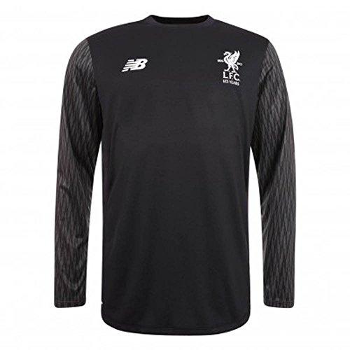- New Balance 2017-2018 Liverpool Away Long Sleeve Goalkeeper Football Soccer T-Shirt Jersey (Black) - no Sponsor