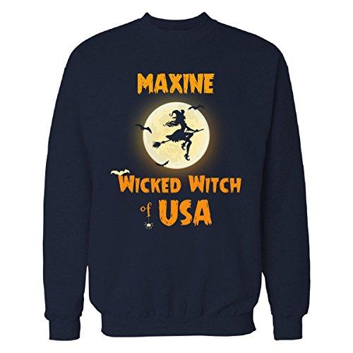 Maxine Wicked Witch Of Usa Halloween Gift - Sweatshirt Navy_blue (Maxine On Halloween)