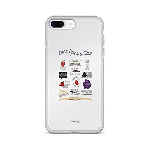 iPhone 7 Plus/iPhone 8 Plus Case Clear Anti-Scratch Once Upon a Time Quotes, Once Upon a time Cover Phone Cases for iPhone 7 Plus iPhone 8 Plus]()