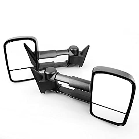 Ships From USA For 1988-1998 Chevy GMC C/K 1500 2500 3500 Tahoe Yukon Manual Tow Side Towing Extend Mirrors - 89 Passenger Side Bracket