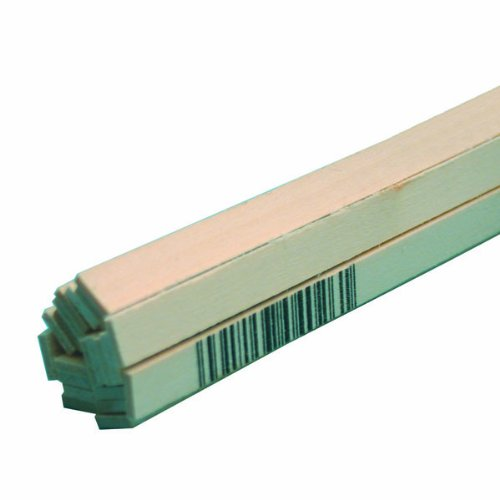 Midwest Products 4028 Micro-Cut Quality Basswood Strip Bundle, 0.0625 x 0.375 x 24 -
