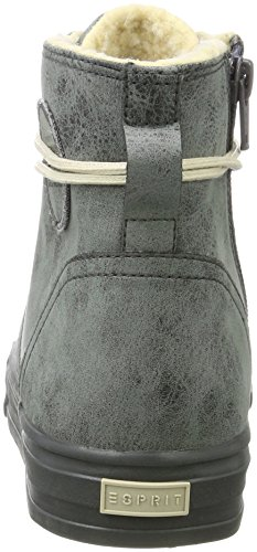 Hohe Dark Bootie Grey Grau ESPRIT Simona Damen Sneaker SnwqxCCUZA