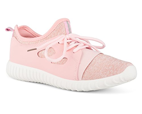 Twisted Womens Electra Lightweight Athletic Fashion Sneaker - ELECTRA01 Blush, Size (Electra Colours)
