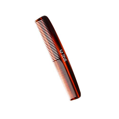 ZEUS Handmade Saw Cut Beard Comb for Men, Great for distributing Beard Oils and Beard Balms, Traditional