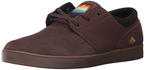 Emerica The Figueroa, Scarpe da Skateboard da Uomo Brown/Gum/Gold