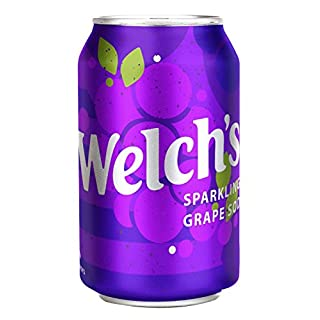 Welch's Sparkling Soda 12 Ounce Cans (Grape, Pack of 24)