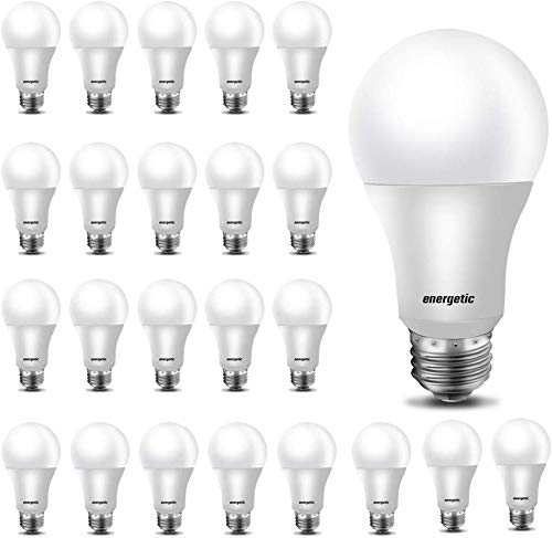 24 Pack, LED Light Bulbs 60 Watt Equivalent, A19 Warm White 3000K, E26 Base, Non-Dimmable, 750lm, UL Listed