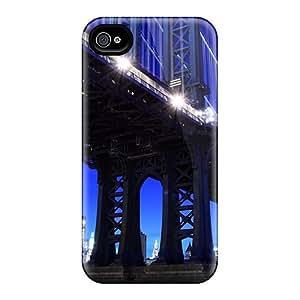 Premium [FNS1591FWKX]beautiful Manhattan Bridge At Night Case For Iphone 4/4s- Eco-friendly Packaging