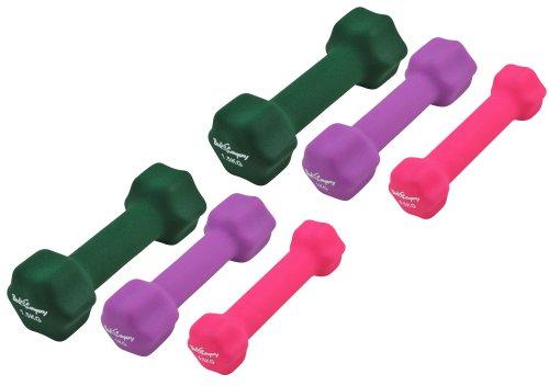 6Kg (2x0.5, 2x1, 2x1.5) Neopren Gymnastik Hanteln Gewichte Hantel-Set Kurzhantel