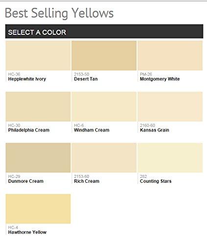 1g Benjamin Moore Yellows Aura Waterborne Interior Paint Satin Windman Cream