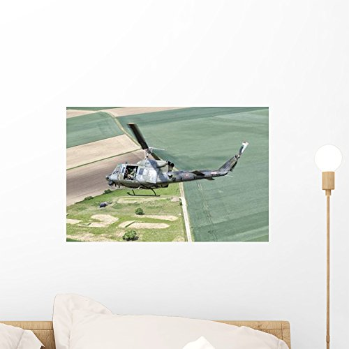 Ab Small Wall - Wallmonkeys Italian Air Force Ab-212ico Wall Mural by Peel and Stick Graphic (18 in W x 12 in H) WM83312
