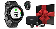 Garmin Forerunner 235 (Black) GIFT BOX Bundle | Includes GPS Running Watch with Wrist-Based Heart Rate/Color Display, PlayBetter USB Car/Wall Adapters, Protective Case | Black Gift Box