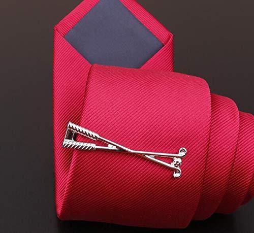 CHENFUI - Corbata de Doble Bola con Forma de batón (Plata): Amazon ...