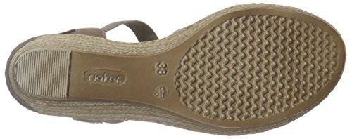 Rieker 62469 Women Open Toe, Women's Wedge Heel Open Sandals Grey - Grau (Mineral / 42)