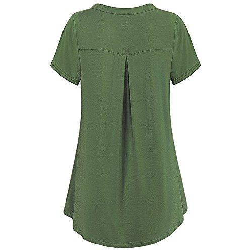 Manches Gilet Hauts Couleur Col V B Pure Zipp Chic Dames Sexy Vetements Chemise Dbardeur Camisole Femme sans Tank Tunique Cami LEvifun Chemiser Blouse Ete Vert lgant Tops qSAzAf