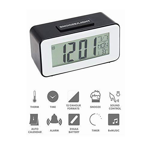 Black Digital Electronic Travel Alarm Clock Automotive Electronic Stopwatch