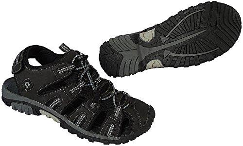 Herren Outdoorsandale Schuhe Trekking Sandale gr.41 - 46 art.nr.5525 d.grau-lt.grau
