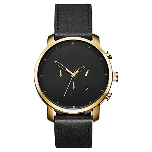 MVMT Chrono Watches | 45 MM Men's Analog Watch Chronograph | Gold Black ()